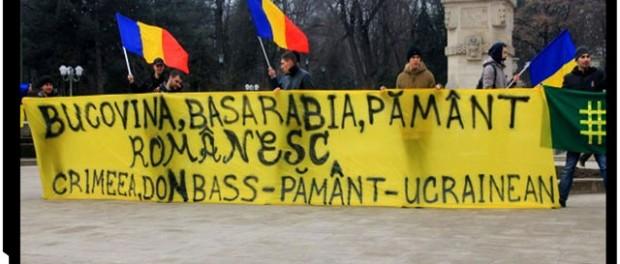 FOTO - Basarabenii protestează pentru a susține poporul ucrainean, foto: diez.md
