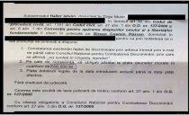 Daune morale uriase cerute unui român de catre un membru al CNCD