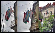 Românii din Oradea încep să reacționeze împotriva secesionismului. Proprietar pedepsit pentru arborarea steagului secuiesc