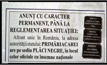 Un ziar ia atitudine față de dispariția statului român la Carei. Certitudinea menține un anunț cu caracter permanent...