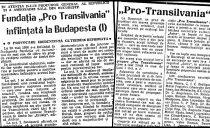 La 30 Mai 1990 se înființa la Budapesta Fundația Pro Transilvania,