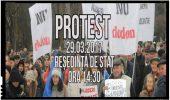 Protest anti Dodon in Republica Moldova