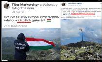 Provocare! Gest sfidator cu steagul Ungariei facut de un politist de frontiera maghiar prin muntii României! N-ar fi timpul ca si autoritatile romanesti sa ceara niste explicatii la nivel diplomatic?