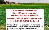 Liviu Pleșoianu: Cei care mimau iubirea față de DIASPORA tocmai au aprobat trimiterea a peste 15.000 de muncitori sezonieri în NORDUL ITALIEI