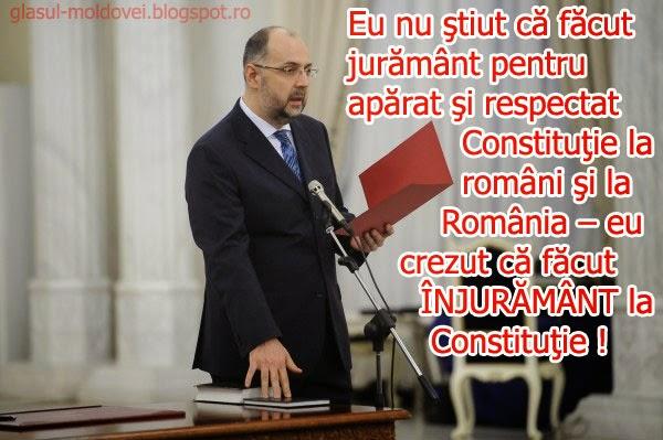 """""""Nu am putut accepta sa nu modificam articolul 1 al Constitutiei, care spune ca Romania este stat unitar si indivizibil. Acesta era punctul de unde nu am putut merge mai departe. Noi de nenumarate ori ne-am exprimat indoielile referitoare la statul unitar. Romania nu este stat unitar, aceasta stare poate exista doar in visele catorva politicieni romani."""" - Kelemen Hunor, vice prim-ministru si ministrul culturii in actualul guvern Ponta III"""