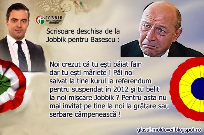 Scrisoare deschisa de la Jobbik pentru Basescu