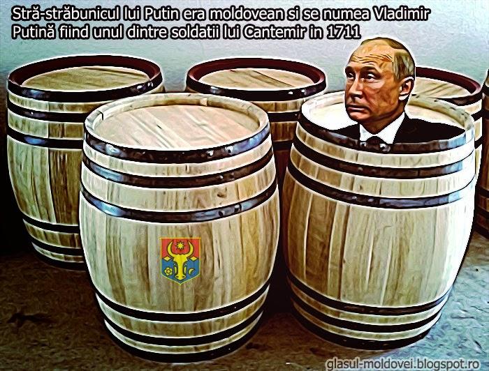 Vladimir Putină, stra-strabunicul, moldovean,Vladimir Putin
