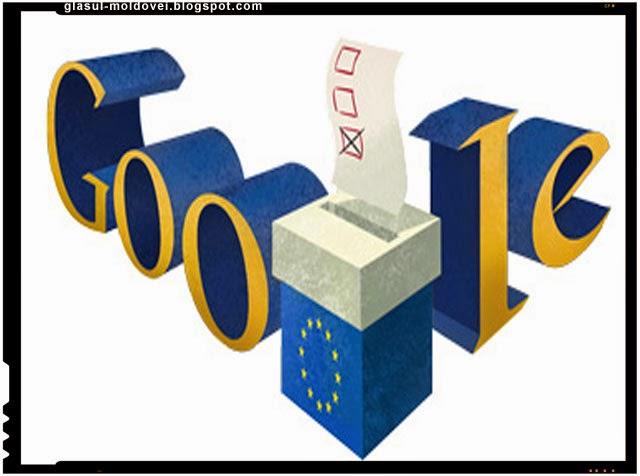 Google ii surprinde pe romani cu un Doodle legat de alegerile europarlamentare