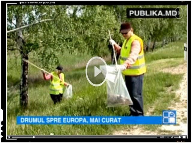 Actiune comuna a ecologistilor din Romania si Republica Moldova, Foto: captura video publika.md