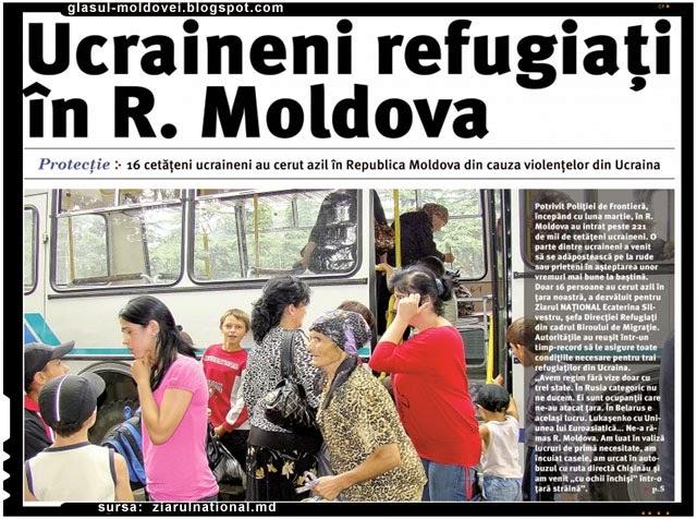 Aproape 1.5 mii de ucraineni au solicitat şedere în Moldova