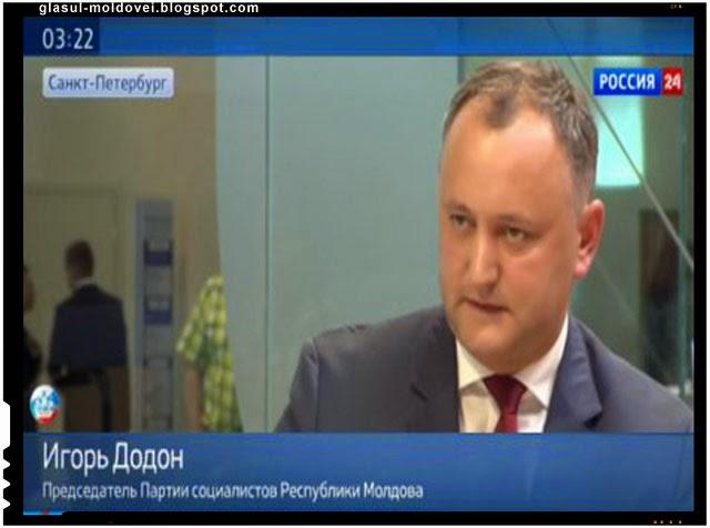 Igor Dodon pune umarul la UNIREA dintre Romania si Republica Moldova!