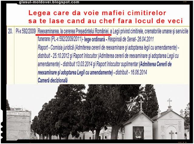 Lege pentru mafia cimitirelor din Romania