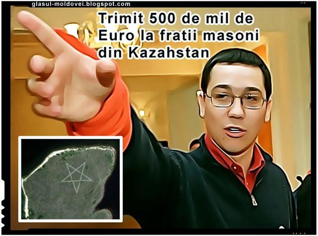 Ponta a facut cadou 500 mil de Euro masonilor din Kazahstan