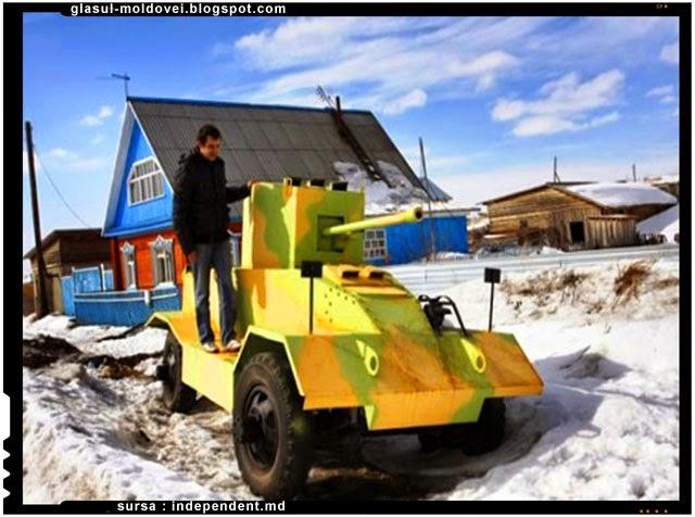 Un rus si-a facut propria divizie de tancuri si blindate