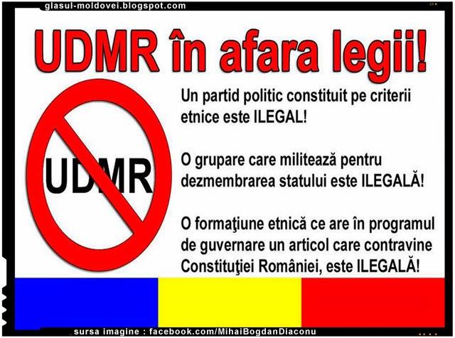 UDMR trebuie interzis la fel ca PCR si scos in afara legii
