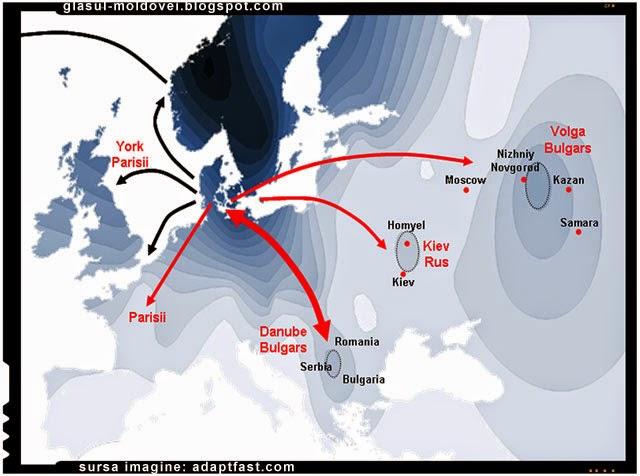 Danezii provin dintr'o migrație masivă în Scandinavia care au avut loc în timpul secolelor timpurii din regiunile de vest ale Mării Negre.