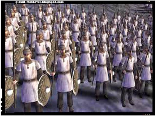 soldati Foederati din tribul Anglilor , primii dintre ei au ajuns in secolul IV in estul Britaniei.