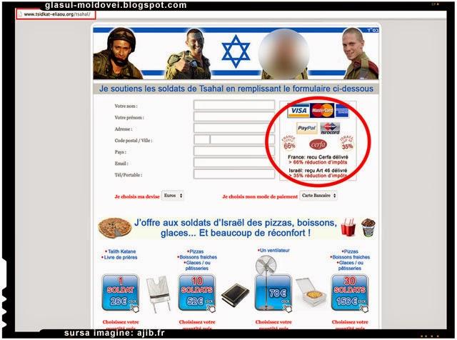 Franta ofera scutiri de impozit pentru cei care fac donatii pentru armata Israelului
