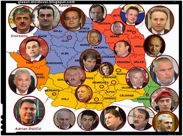Adevarata harta a clanurilor mafiote din Romania