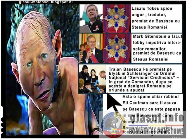 Tradatori, spioni sau dusmani ai Romaniei, premiati de catre Traian Basescu!