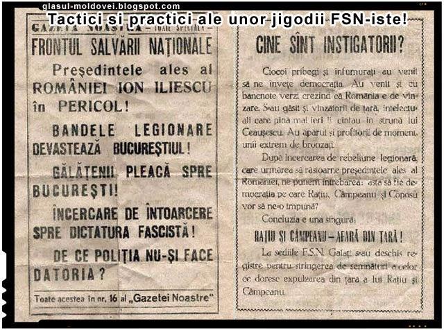 Scapati Romania de jigodiile FSN-iste!