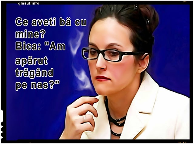 "Alina Bica :""Am aparut tragand pe nas?"""