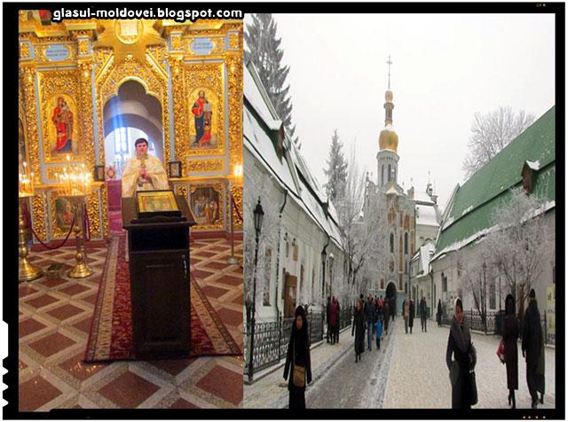 Catedrala Adormirii din Kiev-Pechersk Lavra, serviciu religios in limba romana
