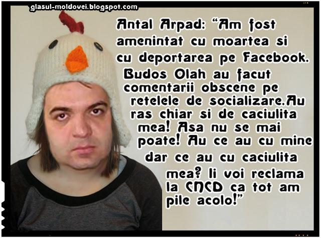 Antal Arpad se plange de amenintari cu moartea si cu deportarea pe Facebook!