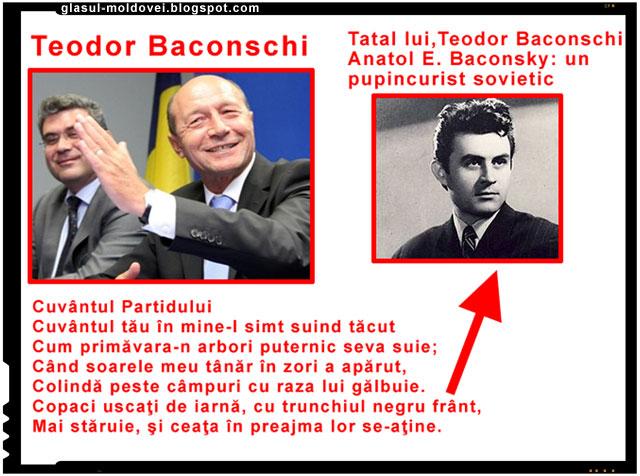 """Langa Basescu stau numai oameni unul si unul; Teodor Baconschi, """"ambasadorul"""" care i-a adus pe usa din dos victoria lui Traian Basescu din 2009, este si el o mladita din acelasi copac plind de cominternisti, bolsevici sau pupincuristi ai sovietelor si ai comunismului."""