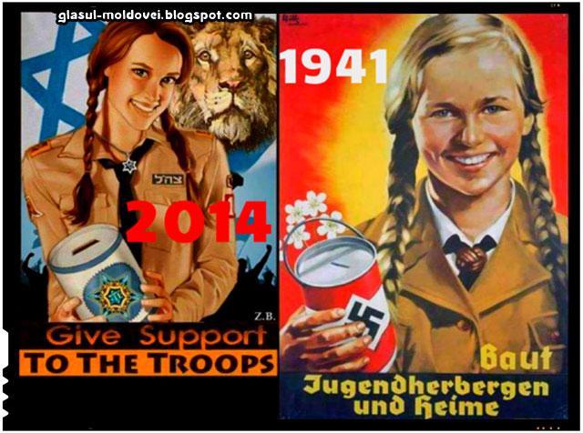 Propaganda inspirata din propaganda nazista