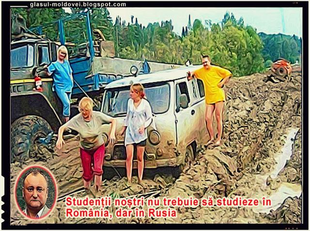 Dodon: Studenții noștri nu trebuie să studieze în România, dar în Rusia