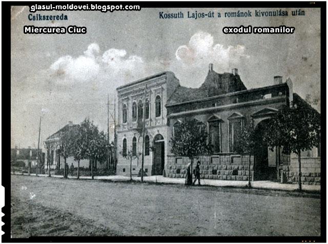 1916, Retragerea romanilor din Miercurea Ciuc