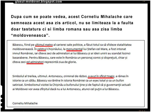 Un comunist chinuindu-se cu limba romana, sau cu asa zisa moldoveneasca