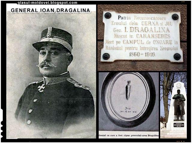 Generalul erou Ion Dragalina, mort in luptele de pe Valea Jiului