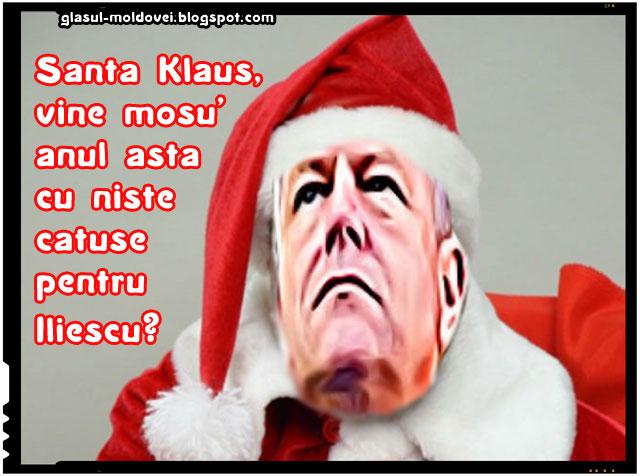 Klaus Iohannis- Santa Klaus- Timisorenii i-au cerut arestarea lui Iliescu!
