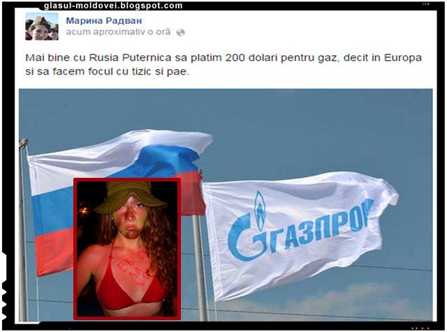 Marina Radvan - momeste moldovenii cu gaz rusesc de la Gazprom