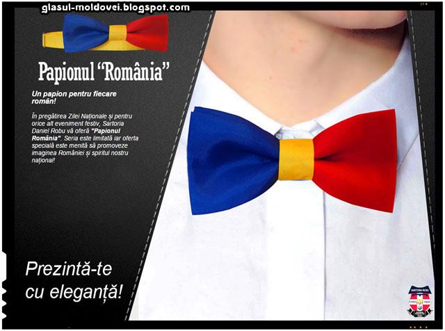"""O idee originala - papionul tricolor sau papionul """"Romania"""""""
