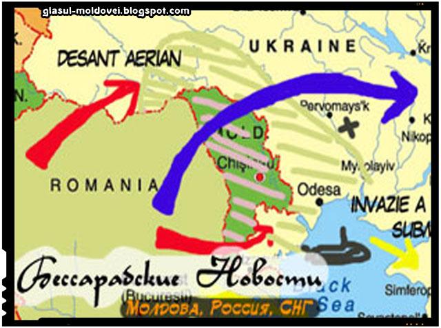 Rusii se gandeau inca din 2012 la scenarii de razboi, doar ca erau intre Romania si Ucraina, sursa foto:bessnews.ru
