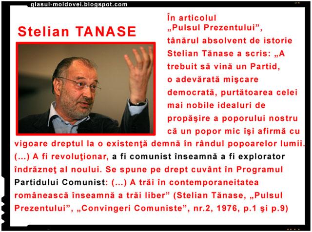Unul dintre cei slabi directori ai televiziunii romane nationale este Stelian Tanase, un alt individ ce are in proprietate o coloana vertebrala de molusca si un caracter de vulpe bolsevica.