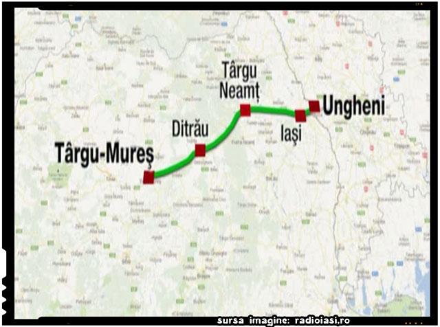 Autostradă în două etape pe traseul UNGHENI – IAŞI – TÂRGU MUREŞ, sursa imagine: radioiasi.ro