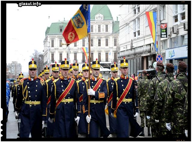 Defilarea detaşamentelor militare la Iasi