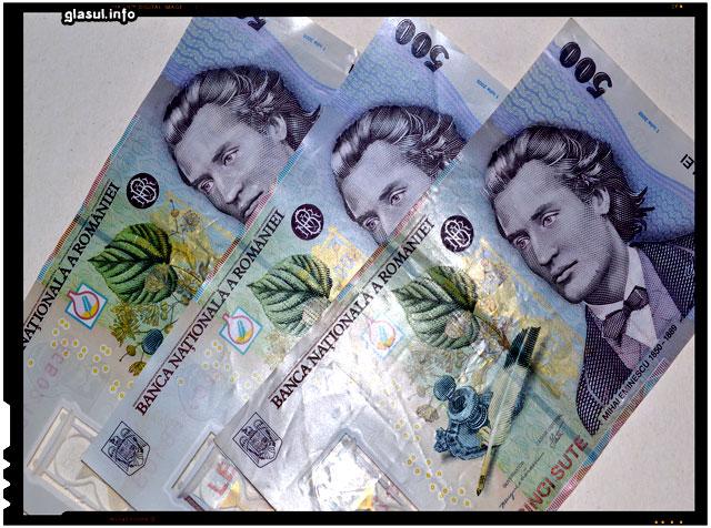 Bancnota de 500 de lei (RON). Eminescu contemplat de la Chisinau