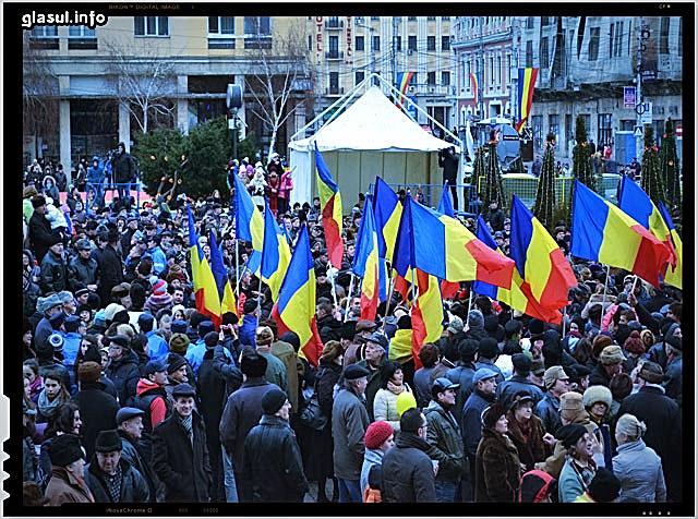 Un grup de basarabeni a sarbatorit ziua Unirii Principatelor in capitala Moldovei!