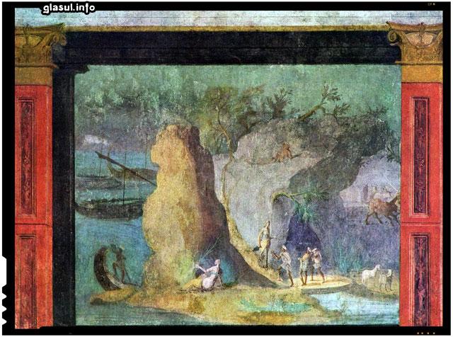 Frescă romană cu Odiseu, cca. 150-100 î.e.n. (Biblioteca Apostolică a Vaticanului)