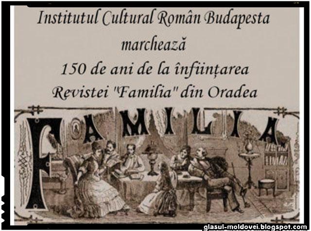 """ZIUA CULTURII NAŢIONALE ► Institutul Cultural Român Budapesta marchează 150 ani de la înfiinţarea revistei """"Familia"""" din Oradea, sursa imagine: icr.ro"""