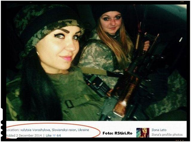 FOTO - Lunetistă de 19 ani, Arestata pentru Executarea unor Soldati Ucrainieni, foto: Rstiri.ro