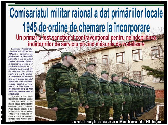 In Ucraina a fost aprobată legea cu privire la mobilizarea parţială, imagine: Monitorul de Hliboca