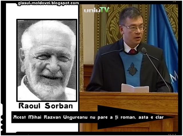 """Raoul Sorban: """"Acest Mihai Razvan Ungureanu nu pare a fi roman, asta e clar"""", surse imagini: wikipedia.org, youtube.com"""