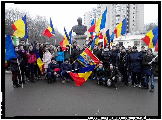 Unirea Principatelor Române serbată la Chișinău, sursa imagine: nouadreapta.md