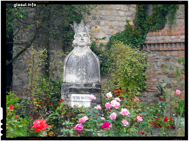 Petru Rareş – bust în incinta mănăstirii Moldoviţa, jud. Suceava, România